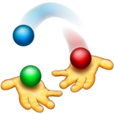 Person Juggling on Emojipedia 11.1