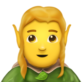 Man Elf on Emojipedia 11.1