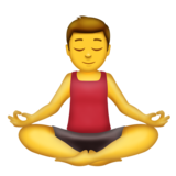 Man in Lotus Position on Emojipedia 11.1