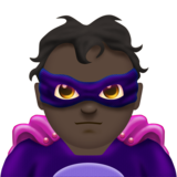 Man Supervillain: Dark Skin Tone on Emojipedia 11.1
