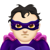 Man Supervillain: Light Skin Tone on Emojipedia 11.1