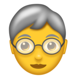 Older Person on Emojipedia 11.1