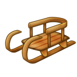 Sled on Emojipedia 11.1