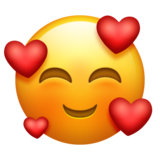 Smiling Face With Hearts on Emojipedia 11.1