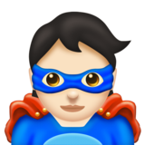 Superhero: Light Skin Tone on Emojipedia 11.1