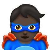 Superhero: Dark Skin Tone on Emojipedia 11.1