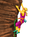 Woman Climbing on Emojipedia 11.1