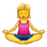 Woman in Lotus Position on Emojipedia 11.1