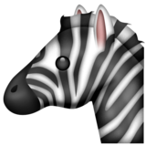Zebra on Emojipedia 11.1