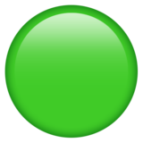 Green Circle on Emojipedia 12.0