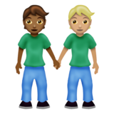 People Holding Hands: Medium-Dark Skin Tone, Medium-Light Skin Tone on Emojipedia 12.0