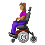 Woman in Motorized Wheelchair: Medium Skin Tone on Emojipedia 12.0