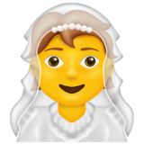 Person With Veil on Emojipedia 13.0