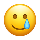 Smiling Face with Tear on Emojipedia 13.0