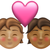 Kiss: Person, Person, Medium Skin Tone, Medium-Dark Skin Tone on Emojipedia 13.1