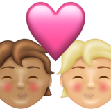 Kiss: Person, Person, Medium Skin Tone, Medium-Light Skin Tone on Emojipedia 13.1