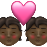 Kiss: Dark Skin Tone on Emojipedia 13.1