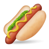 Hot Dog on Emojipedia 1.0