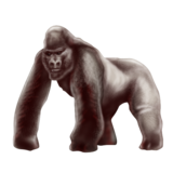 Gorilla on Emojipedia 4.0