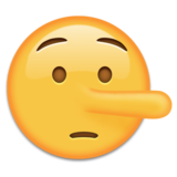 Lying Face on Emojipedia 4.0