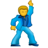 Man Dancing on Emojipedia 4.0