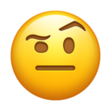 Face With Raised Eyebrow on Emojipedia 5.0