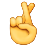 Crossed Fingers on Emojipedia 5.0
