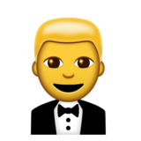 Person in Tuxedo on Emojipedia 5.0