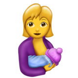 Breast-Feeding on Emojipedia 5.1