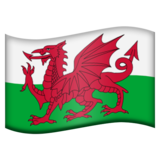 Flag: Wales on Emojipedia 5.1