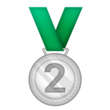 2nd Place Medal on Emojipedia 5.1