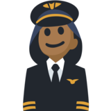 Woman Pilot: Medium-Dark Skin Tone on Facebook 2.1