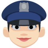 Woman Police Officer: Light Skin Tone on Facebook 2.1