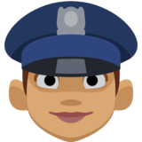 Woman Police Officer: Medium Skin Tone on Facebook 2.1