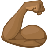 Flexed Biceps: Medium-Dark Skin Tone on Facebook 2.1