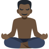 Man in Lotus Position: Dark Skin Tone on Facebook 2.1