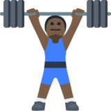 Man Lifting Weights: Dark Skin Tone on Facebook 2.1