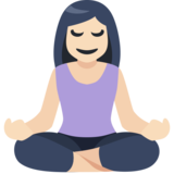 Person in Lotus Position: Light Skin Tone on Facebook 2.1