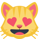 Smiling Cat Face With Heart-Eyes on Facebook 2.1