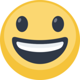 Grinning Face with Big Eyes on Facebook 2.1