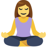 Woman in Lotus Position on Facebook 2.1