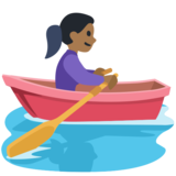 Woman Rowing Boat: Medium-Dark Skin Tone on Facebook 2.1