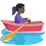 Woman Rowing Boat: Dark Skin Tone on Facebook 2.1