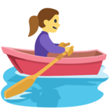 Woman Rowing Boat on Facebook 2.1