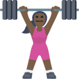 Woman Lifting Weights: Dark Skin Tone on Facebook 2.1