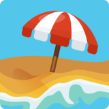 Beach With Umbrella on Facebook 2.2