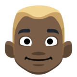 Man: Dark Skin Tone, Blond Hair on Facebook 2.2