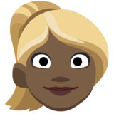 Woman: Dark Skin Tone, Blond Hair on Facebook 2.2