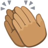 Clapping Hands: Medium Skin Tone on Facebook 2.2