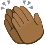 Clapping Hands: Medium-Dark Skin Tone on Facebook 2.2